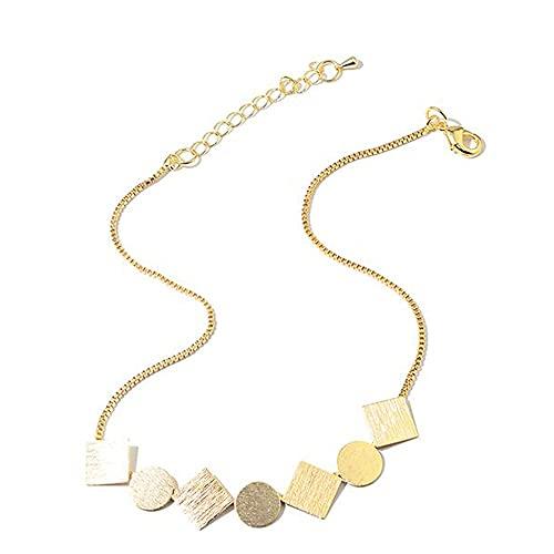 Collares De Mujer, Cadena De Clavícula De Forma Geométrica Collar con Colgante De Elegancia Regalos De La Joyería De Las Señoras del Collar De La Aleación