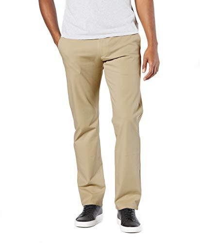 Dockers Men's Straight Fit Ultimate Chino Pants, new british khaki, 40W x 32L