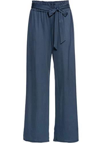 bonprix Aparte Hose mit sehr weitem Bein dunkelblau lang 40/42 für Damen