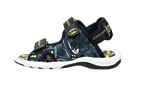 DC Comics Boys Batman Sandals (Black, 12, numeric_12)