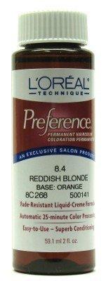 L'Oreal Preference Color # 8.4 Reddish Blonde (3-Pack)