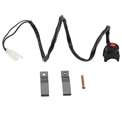 Botón de bocina del manillar de la motocicleta, 7/8 pulgadas 22 mm Botón de bocina del interruptor de parada de emergencia universal para motocicleta Bicicleta ATV