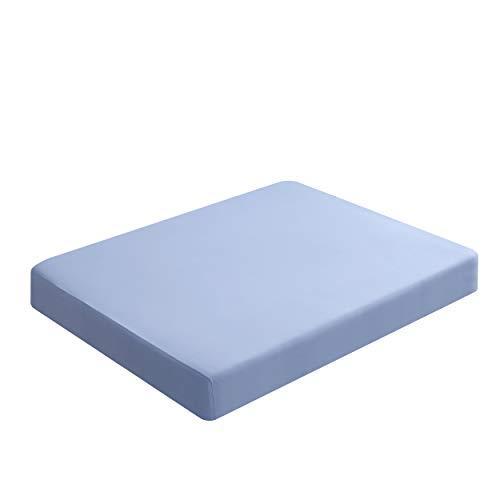 ひんやりボックスシーツ boxシーツ接触冷感 ひんやりシーツ クールボックスシーツ 伸びるベッドカバー 冷感マットレスカバー 夏用BOXシーツ 冷感伸びるシーツひんやり 冷感シーツ 冷感ニット スーパーソフトクール ストレッチ素材 速乾 洗える ブルー セミダブル120x200x30CM(SUSAN'S GARDEN)