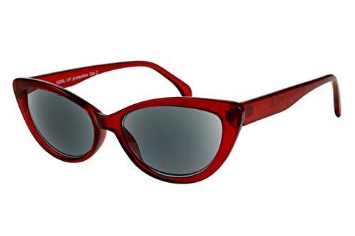Leesbril met dioptrieën voor vrouwen Cateye Cat Design met case rood Transparant Glanzende Plastic 1.0 1.5 2.0 2.5 3.0 3.5 Dioptrien 2.5