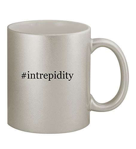 #intrepidity - 11oz Hashtag Silver Coffee Mug Cup, Silver