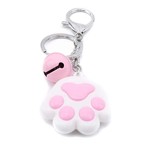 Ogquaton Clé de voiture en forme de patte de chat en forme de cloche porte-clés sacs suspendus...