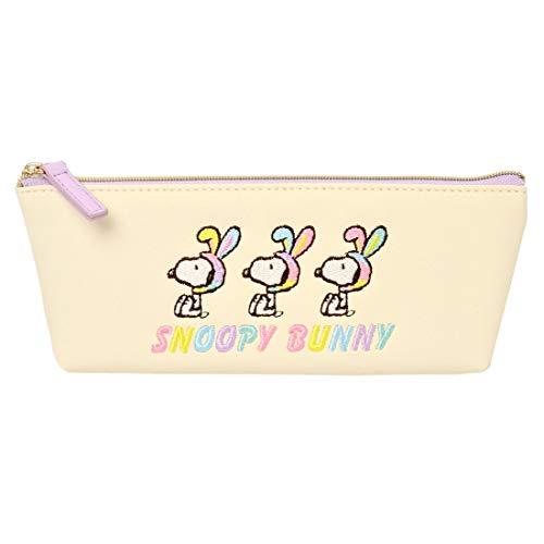 ペンケース かわいい スヌーピー 筆箱 SNOOPY キャラクター ポーチ スリム ペンポーチ 大容量 かわいい レディース 小物入れ フラット バニー