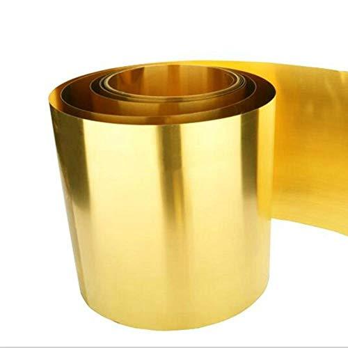 DGPOAD Dicke 0,1 mm Breite 20 mm 1 Meter/Rolle Dünner Bronzestreifen Bronzeplatte Goldfolie Bronzefolie Bronzeplatte Bronzeplatte H62