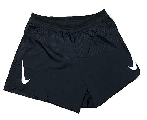 Nike Men's AeroSwift 5'' Running Shorts - Black/White, X-Large