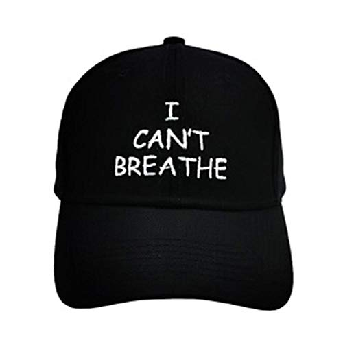 I Can't Breathe Protest Cap, Baseball Hat, Baseball Cap Perfect For Outdoor Activities Fishing Running Black