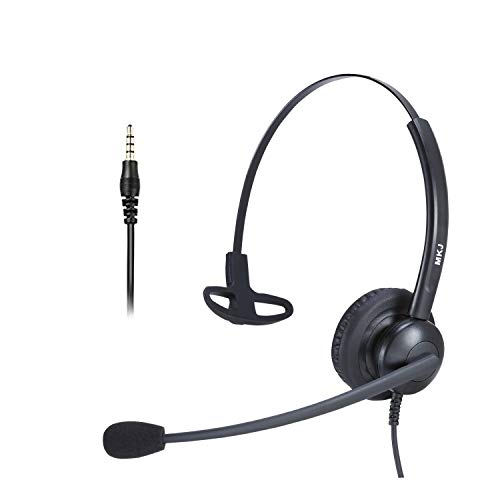 Corded Cell Phone Headset with Noise Cancelling Microphone 3.5mm Telephone Headset with Volume Mute Compatible with iPhone iPad Huawei HTC Samsung Xiaomi Vivo Laptops PC Tablets etc