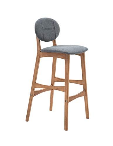 Barstoolri barkruk, ergonomisch, antislip, sterk frame van massief hout 65cm Grijs