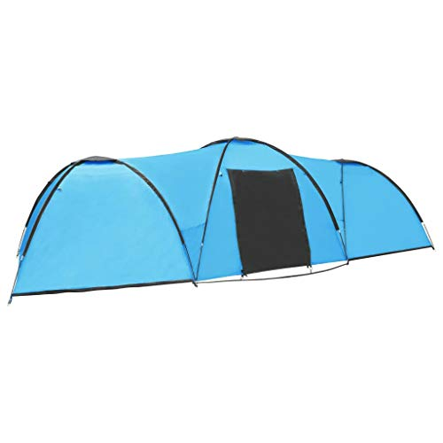 Festnight Camping Igloo Tent, Backpacking Tent for Camping Hiking Travel 650x240x190 cm 8 Person...