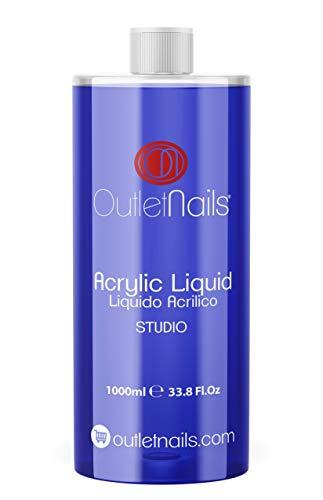 Liquido Acrilico 1000ml Studio| Monomero para uñas acrílicas | Secado Medio - Rápido ideal para Centros de Uñas
