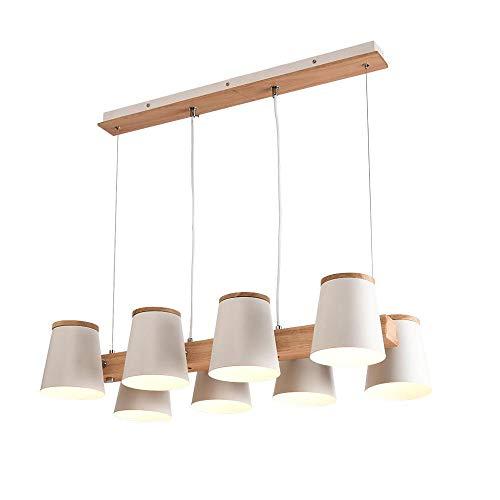 AI LI WEI mooie lampen/persoonlijkheid verstelbare stijl 4 kopen/6 kopen/8 koppen LED massief houten wit kroonluchter te gebruiken op restaurant/eettafel/café/bar creatieve eenvoudige E27 verlichting
