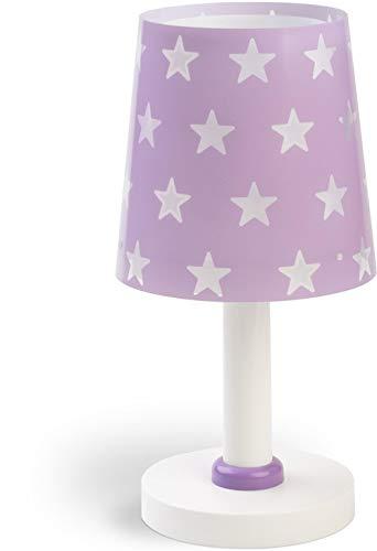 Dalber Kinder Tischlampe Nachttischlampe Sterne Stars Malve