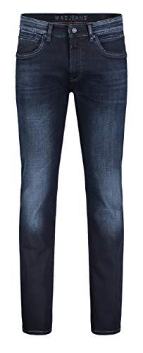 MAC Jeans Herren Arne Pipe Slim Jeans, Blue Black 3D Authentic Wash H793, W33/L32