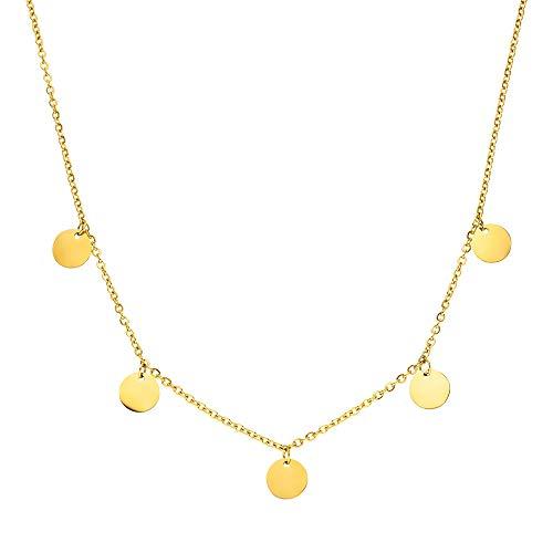PURELEI® Kalea Halskette (Gold) Mit Anhänger (40/45 cm Länge)