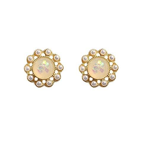 Orecchino a goccia opale colorato smerigliato squisito bohémien Moda semplice orecchini pendenti a sfera rotonda per le donne Regalo gioielli orecchio ragazza 2 pezzi