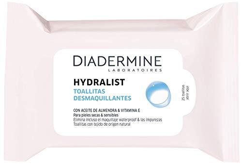 Diadermine Toallitas Desmaquillantes Hydralist 25 Toallitas Enriquecidas con Activos Hidratantes, 1 x 16 g