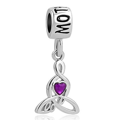 Chris Johnsons Love You Mother Celtic Knot Infinity Love Simulated Crystal Charms fit Bracelets