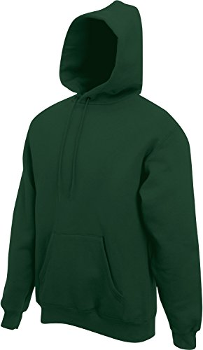 Fruit of the Loom Classic Hooded Sweat Dunkelgrün,XL XL,Bottlegreen