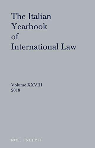Italian Yearbook of International Law 2018