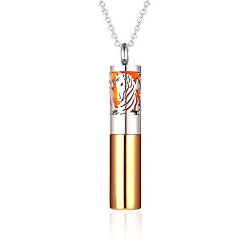 Parfüm Diffusor Container Anhänger Aromatherapie Äthere Öl Diffusor Medaillon Schmuck Edelstahl Vial Halskette (Color : 9)