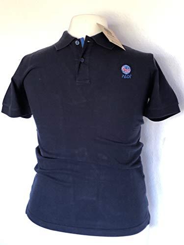 Padi Polo con logotipo bordado para buceo, Divemaster e Instructor, para hombre, color azul oscuro, talla: XS