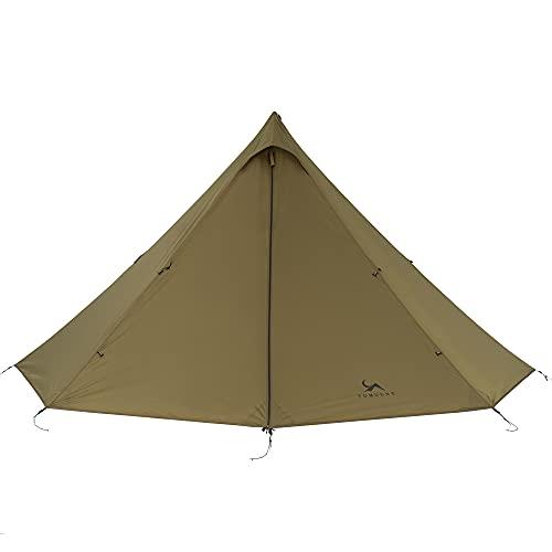 TOMOUNT ワンポールテント 1~3人用 超軽量 3000mm耐水圧 キャンプテント パネル式 多機能 テント 二層構造 簡単設営 防水 防雨 防風 防災