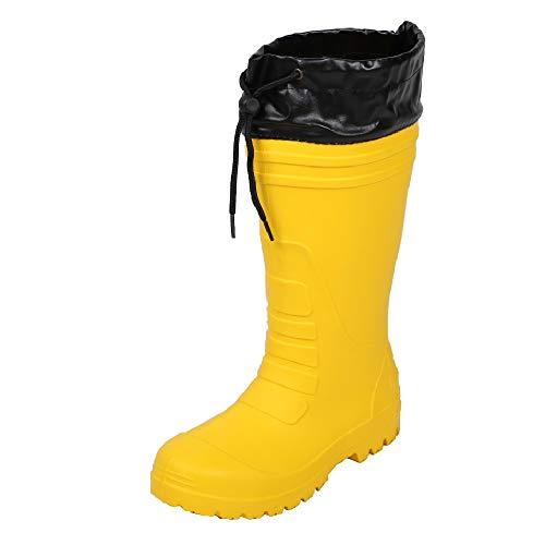 [コーコス信岡] 作業長靴 レインブーツ 超軽量 ハイブリッドEVA 男女兼用 ジプロア イエロー 24.5~25.0 cm 3E