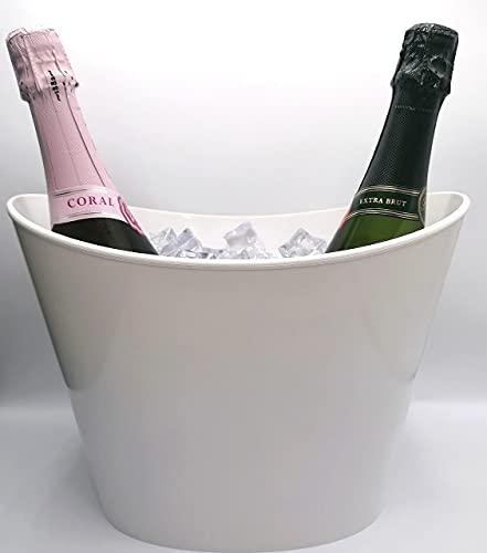Secchiello per ghiaccio Fresh1-2 bot o bottiglia magnum bianca (h22 cm x l30 cm x 18,5 cm) …