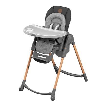 Bébé Confort Minla Chaise Haute bébé Évolutive, Réglable 6 positions, de la naissance à 6 ans (jusqu'à 30kg), Essential Graphite