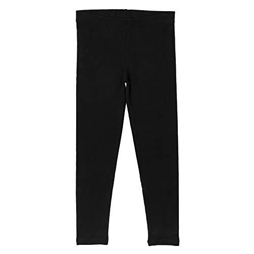 Celodoro Kinder Leggings, stretchige Jersey Hose aus Baumwolle - Schwarz 122-128