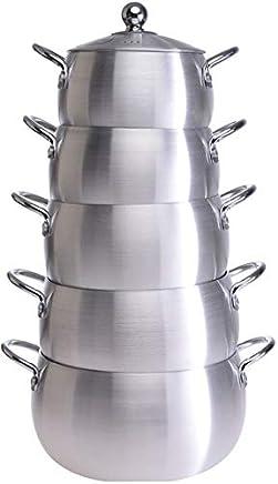 Belly Shape Aluminium Cooking Pot 5pc