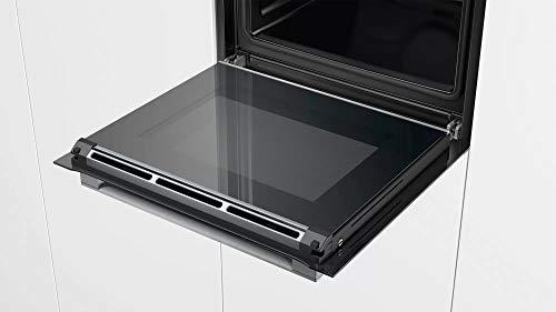 Bosch Serie 8 HBG675BB1 - Horno multifunción, 60 cm, Autolimpieza pirolítica, 3400 W , 13 funciones, Bloqueo de seguridad, Color Negro-Acero inoxidable [Clase de eficiencia energética A+]