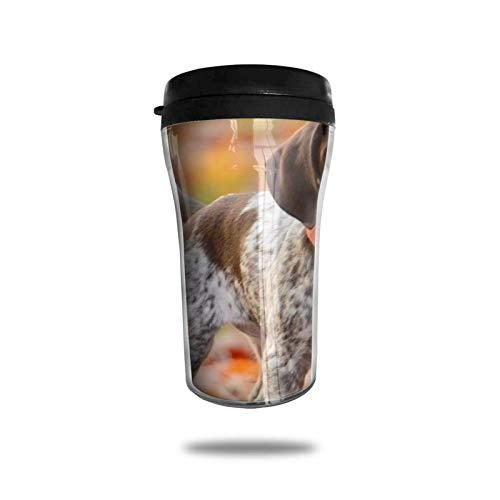Taza de café de viaje con puntero de pelo corto alemán, taza de vacío portátil con impresión delicada, taza con aislamiento ABS de grado alimenticio, antiderrame (8.8 oz)