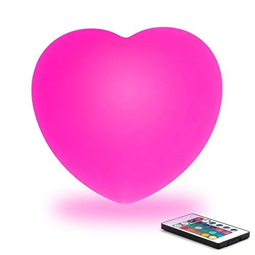 Color Changing LED Heart Lamp