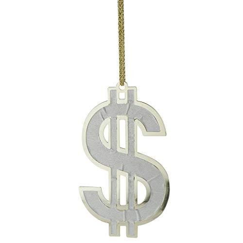Milageto Collar con Colgante de Signo de Dólar Estadounidense Blesiya, Joyería de Hip Hop