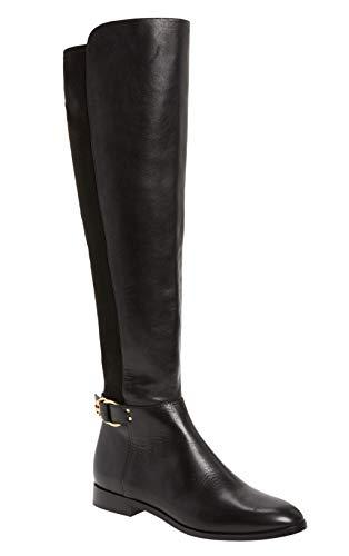 Tory Burch Marsden Botas de piel para mujer, color negro perfecto, Negro perfecto., 6 US