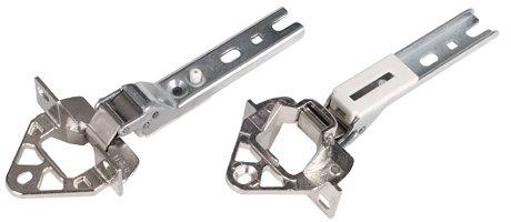 DREHFLEX - Zawiasy drzwiowe zestaw 2 szt. pasuje do Bosch Siemens 00268698/268698 do lodówki/zamrażarki - pasuje do zawiasów Hettich