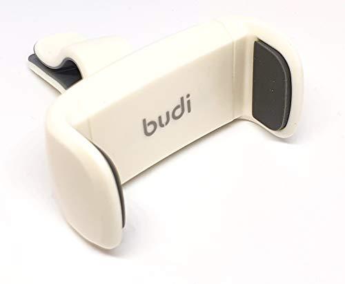 Budi - Soporte universal para coche con rotación de 360º, color blanco