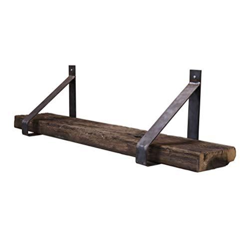 Steigerhoutpassie - Stalen plankdragers - Set - Oud Eiken - Wagondeel Geborsteld - 90cm