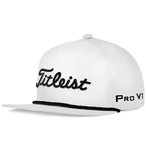 Titleist Tour Rope Flat Bill Hat White/Black