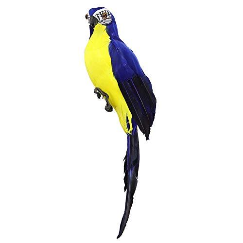 Dastrues Realistische Künstliche Papagei Figur Vögel Imitation Tiere Außen Garten Rasen Baum Dekor - Blau