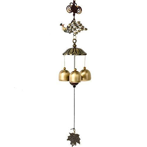 ZANGAO Wind Chimes Wind Bells Eoliennes Cuivre Bell Wind-Bell Jardin Décoration d'intérieur Décoration Wind Chime Suspendu en métal Ornement de Haute qualité (Color : 2)
