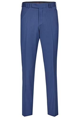 Tziacco Hose zum Hochzeitsanzug in festlicher Feinpopeline, taillierter Schnitt, Slimline Größe 52