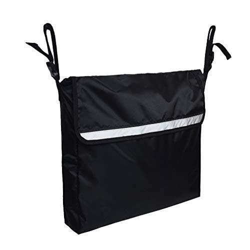 SM SunniMix Rollstuhl Aufbewahrungstasche Rollstuhltasche Armlehnentasche Fronttasche Einkaufstasche, Schwarz