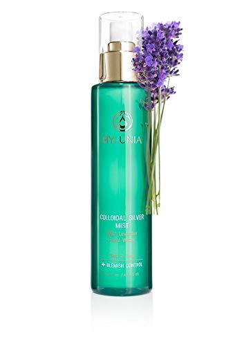 Hylunia Colloidal Silver Mist - 5.1 fl oz - Colloidal Silver and Lavender Essential Oil - Acne Reducer