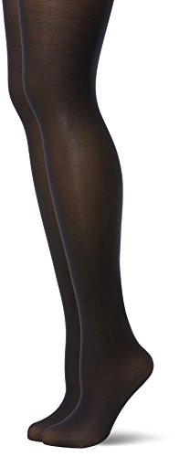 Dim Body Touch Opaque x2 medias, Noir (Noir), Large (Talla del fabricante: 4) para Mujer